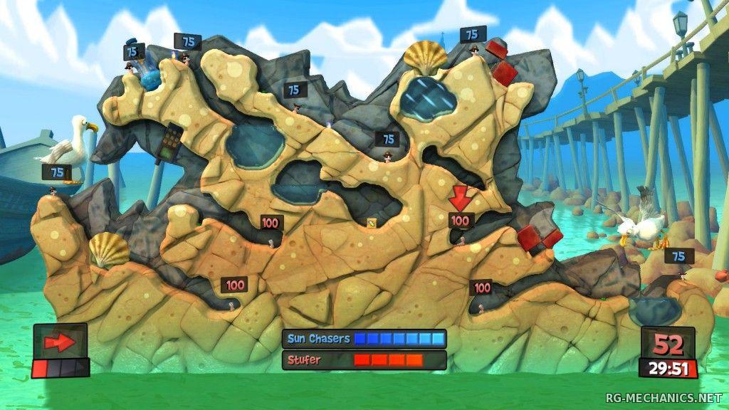 Скриншот к игре Worms Revolution (2012) PC   RePack от R.G. Механики