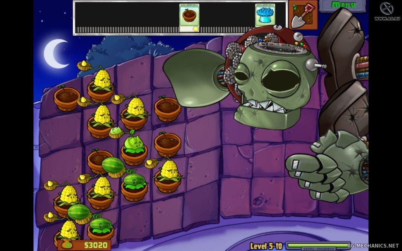 Скриншот к игре Plants vs Zombies (2009) PC | RePack от R.G. Механики