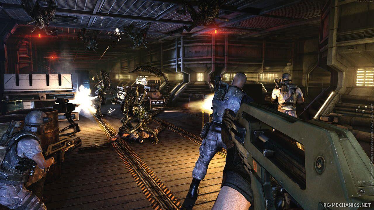 Скриншот к игре Aliens: Colonial Marines [v 1.0.210.751923+TemplarGFX ACM Overhaul V5] (2013) скачать торрент RePack от xatab