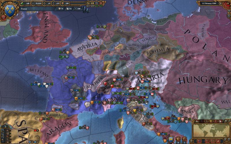 Скриншот к игре Europa Universalis IV [v 1.30.3 + DLC] (2013) скачать торрент RePack