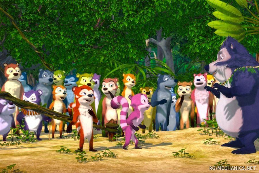 Скриншот к игре Переполох в джунглях / Jungle Shuffle (2014) HDRip | Чистый звук