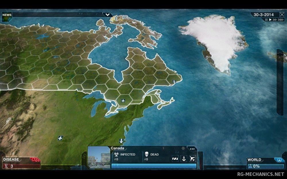 Скриншот к игре Plague Inc: Evolved v.1.17.0 [PLAZA] (2016) скачать торрент Лицензия