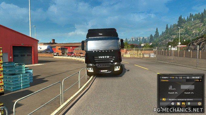 Скриншот к игре Euro Truck Simulator 2 [v1.40.3.3s + DLC] (2013) скачать торрент RePack от R.G. Механики