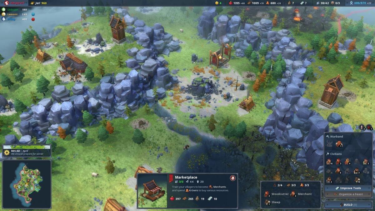 Скриншот к игре Northgard v.2.4.1.20236 [GOG] (2018) скачать торрент Лицензия