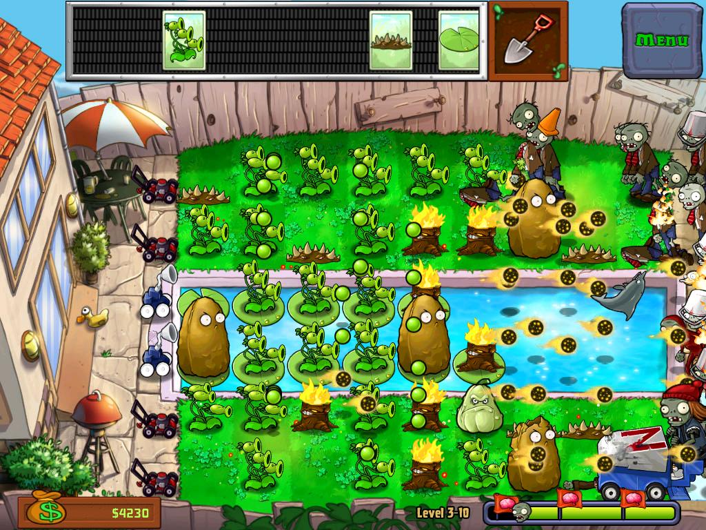 Скриншот к игре Plants vs. Zombies [Portable] (2009) скачать торрент Лицензия